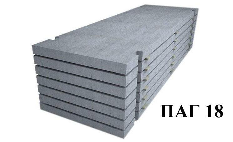 Железобетонная аэродромная плита Паг 18