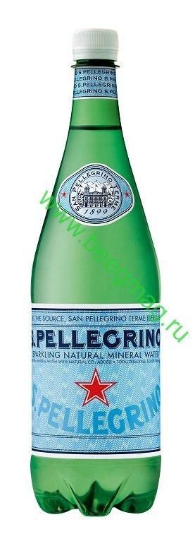 Вода минеральная газированная S.Pellegrino 1л пэт