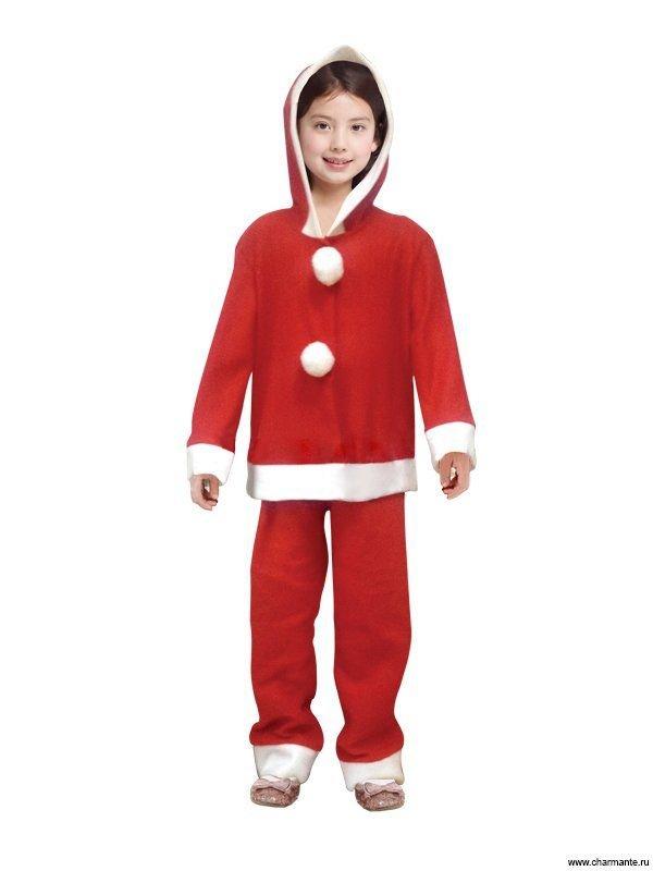 Костюм карнавальный для девочек (Санта-Клаус) XCH-1008