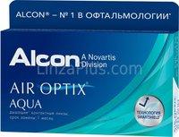 Контактные линзы Ciba Vision на месяц Air Optix Aqua (3 шт.)