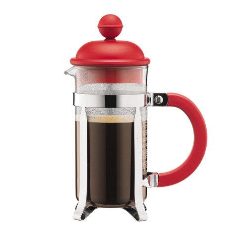 френч-прессы Bodum Кофейник с прессом Caffettiera, 0.35 л, красный