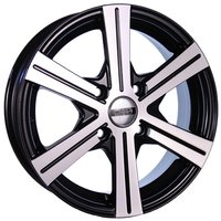 Колесные литые диски Tech-Line 544 6x15 4x100 ET45 D60.1 Чёрный с полированной лицевой частью (rd831118)