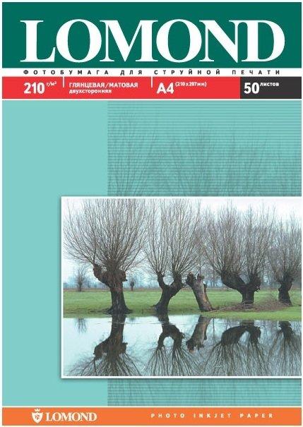 Фотобумага LOMOND Двухсторонняя Глянцевая/Матовая, 210г/м2, A3+20л. для струйной печати
