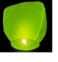 Фонарь желаний бумажный, зеленый