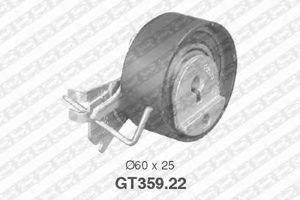 Ролик натяжной ремня грм citroen c3 1.4, peugeot 206/306/307/partner 1.1/1.4 93 Snr GT35922