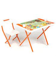 Набор мебели Дэми №у3-05 evro Винни Пух, цвет: белый/оранжевый