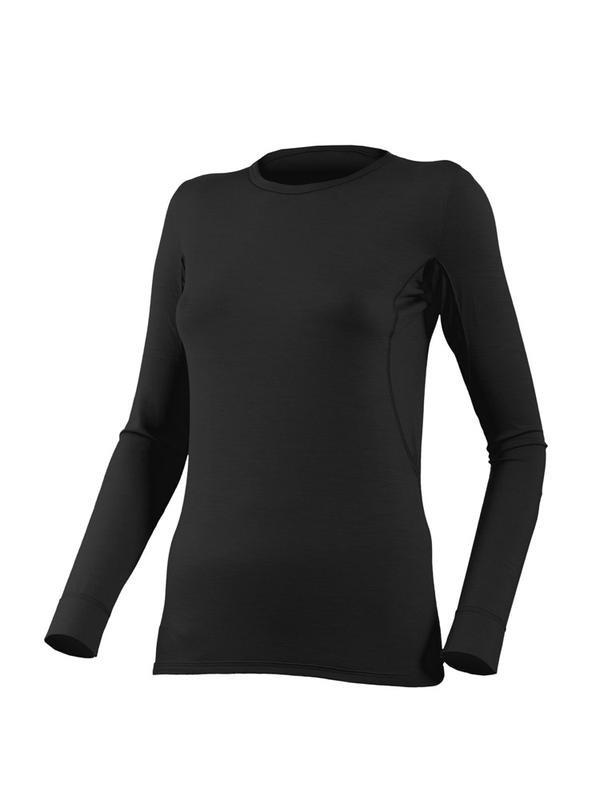 Женское шерстяное термобельё (кофта) Lasting «Lina», черная, размер: S