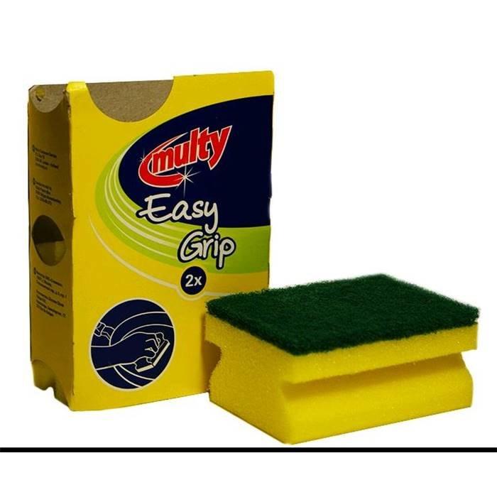 Товар для уборки Multy 140204(Губка Чистящая Профильная 2шт.В Картон.Упак.)