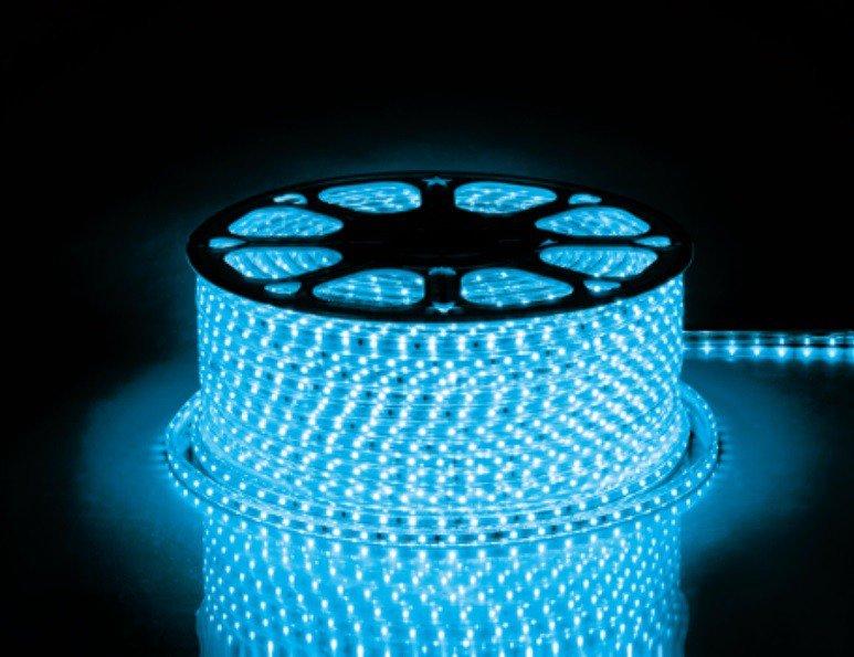 Лента светодиодная прямого включения 220 вольт Feron, 4.4 ватта на метр LS704 Синяя