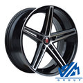 Диски AXE EX14 9x18 5/114.3 ET42 d73.1 Gloss Black Polished - фото 1