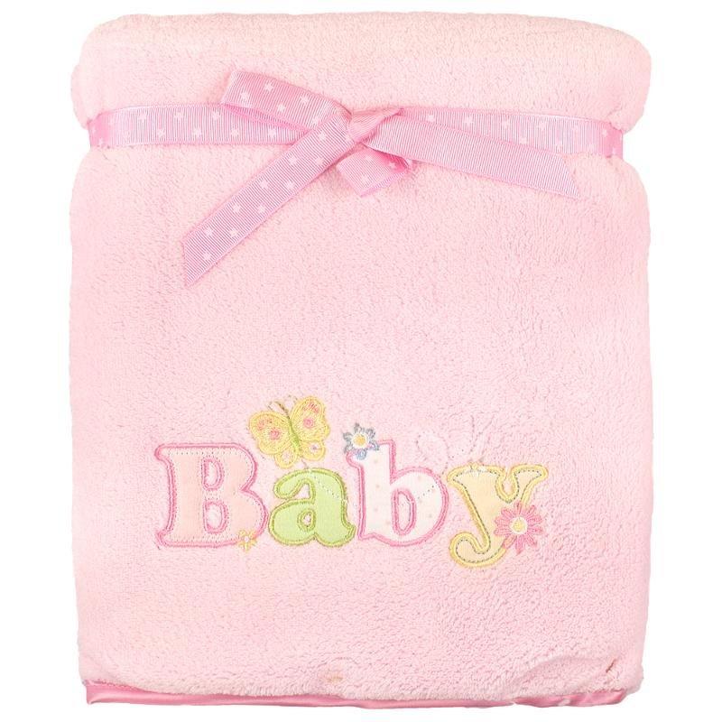 Плед розовый Spasilk, 76х101 см, розовый