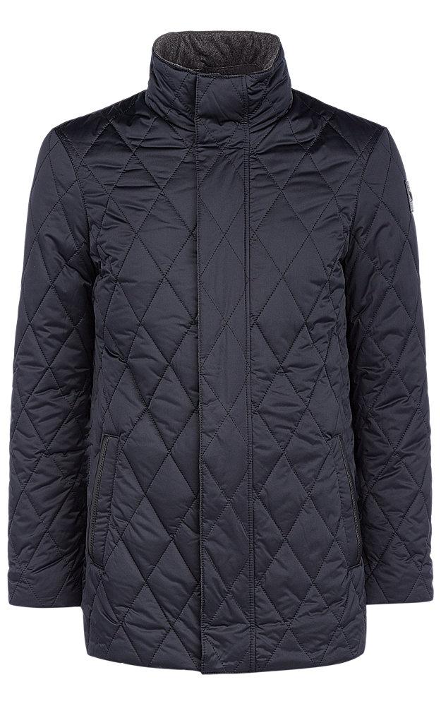 Утепленная куртка c отделкой натуральной кожей