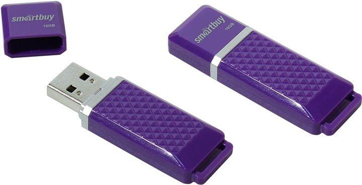 Флешка SmartBuy Quartz SB16GBQZ-K 16 Гб Purple Violet