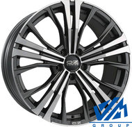 Диски OZ Racing Cortina 9.5x20 5/130 ET52 d71.6 Matt Dark Graphit Diamond - фото 1