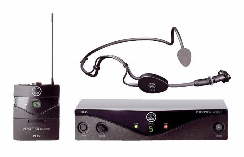 AKG Perception Wireless 45 Sports Set BD A (530-560): радиосистема с порт.передатчиком, 8 каналов + микрофон с оголовьем C544L