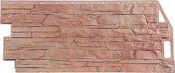 Фасадная панель (цокольный сайдинг) FineBer Скала Терракотовый