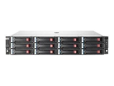 Система хранения информации HP D2600 LFF Disk Enclosure (2U; up to 12x 6G SAS/3G SATA drives, 2xI/O module, 2xfans and RPS, 2x0,5m miniSAS cables) replace 418408-B21 (AJ940A)