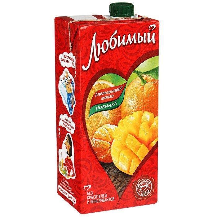 Нектар Любимый Апельсиновое манго 0,95л т/пак