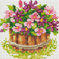 Мозаичная картина на подрамнике БЕЛОСНЕЖКА Маленький цветник, 20 х 20 см