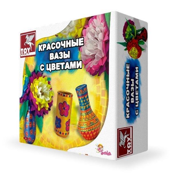 Набор для творчества TOY KRAFT вазы с цветами