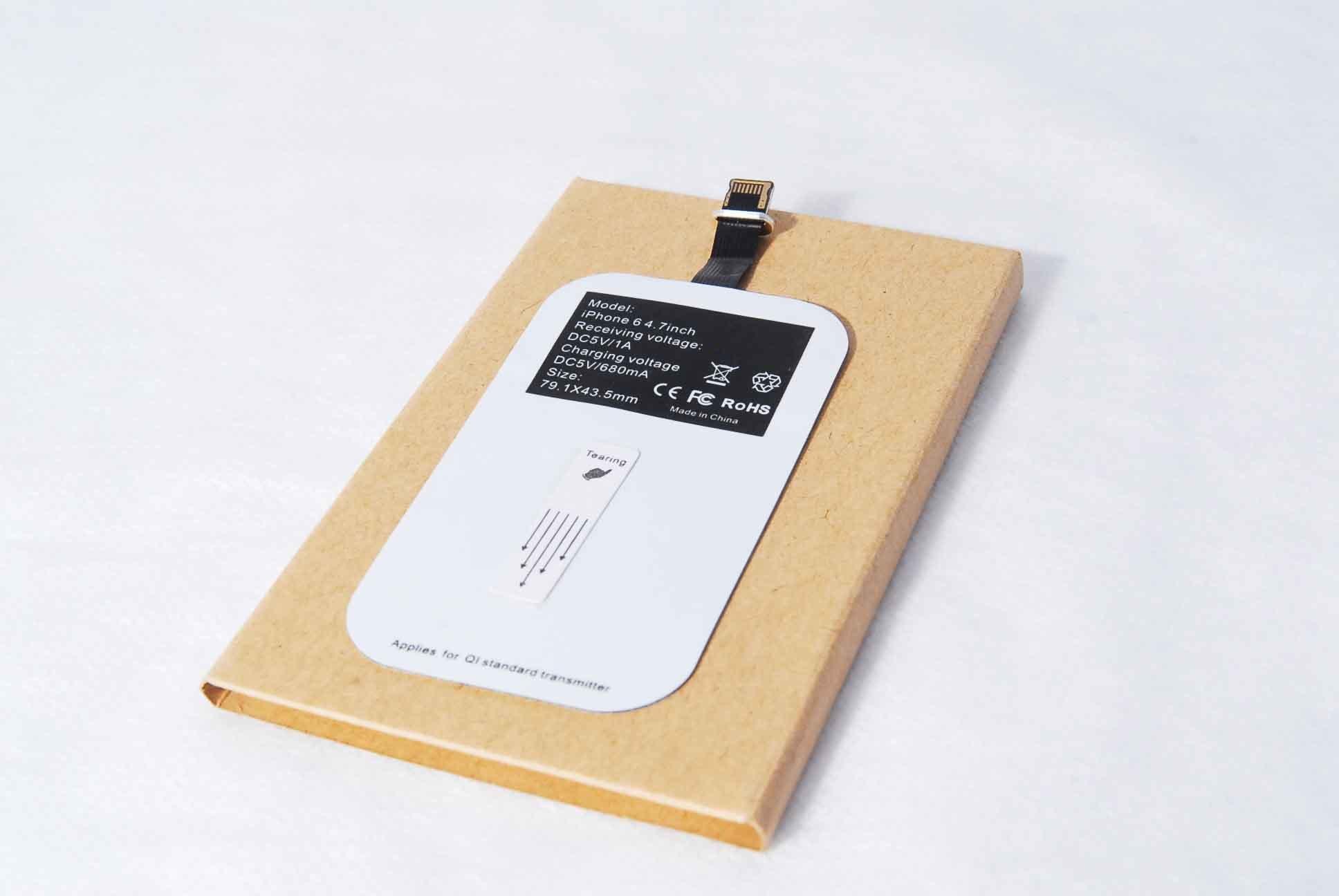 Беспроводное зарядное устройство для телефонов, смартфонов QI R-21 для iPhone 5/6/6+ (приемник)