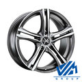 Диски OZ Racing X5B 7x16 5/114.3 ET45 d75 Matt Graphite Diamond Cut - фото 1
