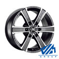 Диски OZ Racing Sahara6 8x17 6/139.7 ET45 d92.3 Matt Graphite Diamond Cut - фото 1