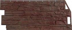 Фасадная панель (цокольный сайдинг) FineBer Скала Желто-коричневый