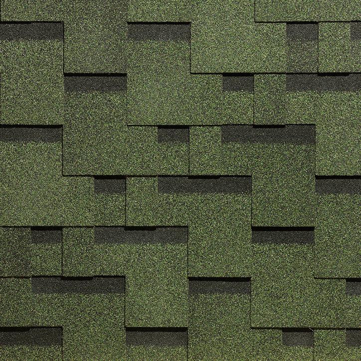 Гибкая черепица Docke Simple Тетрис Зеленый (1кв.м)