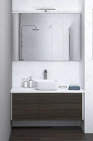 комплект (гарнитур) Мебель для ванной Акватон Брук 100