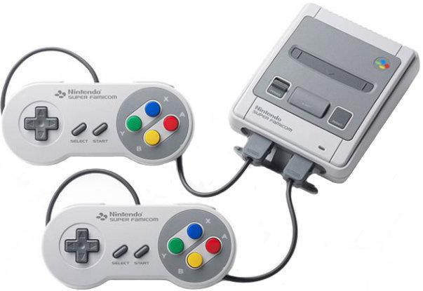 Игровая приставка Classic Mini: Super Nintendo Entertainment System + 21 игра (серый)