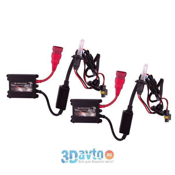 Автолампа ксенон H7 12V 35W 6000K HID TORINO комплект 2 шт + провод+блок розжига+крепеж для блоков