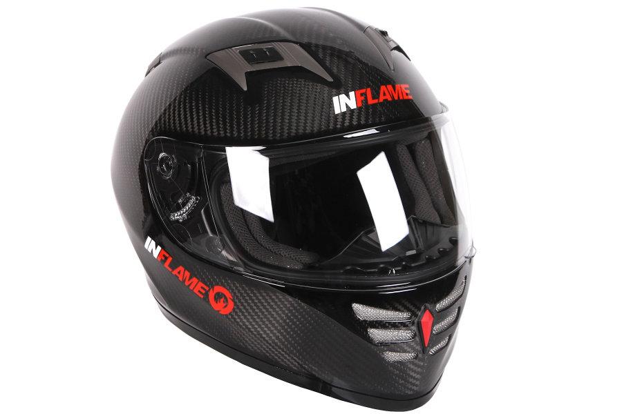 Шлем интеграл Inflame Gladiator Carbon цвет карбон XS