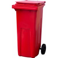 Мусорный контейнер (120л),красный