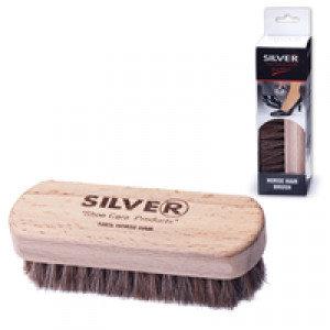 """Щетка для обуви """"Silver"""", деревянная, с натуральным ворсом"""