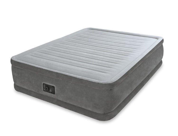 Надувная мебель Надувная кровать Intex 67766 односпальная со встр. насосом 220В (99х191х33)