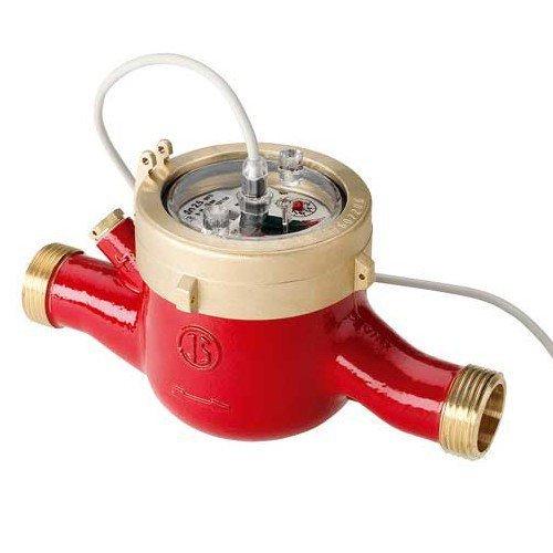 Домовой счетчик воды MTW-I, 90°C, DN 32, Qn 6, L 260 mm, с имп. (10L/Imp.), с присоед.