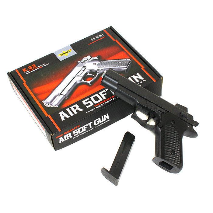 Металлический пистолет для страйкбола К-33 AIR SOFT GUN