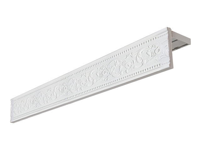 карниз 2-рядный унисон потолочный 300см белый