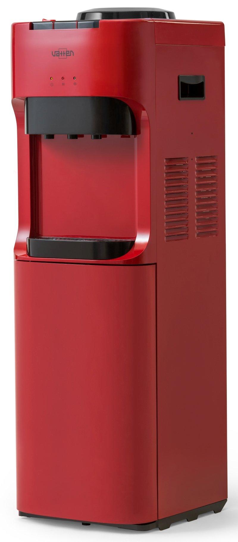 Кулер для воды Vatten V45RKB напольный, с нагревом и охлаждением, с холодильником