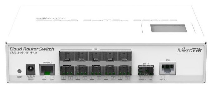 Маршрутизатор MikroTik Cloud Router Switch CRS212-1G-10S-1S+IN