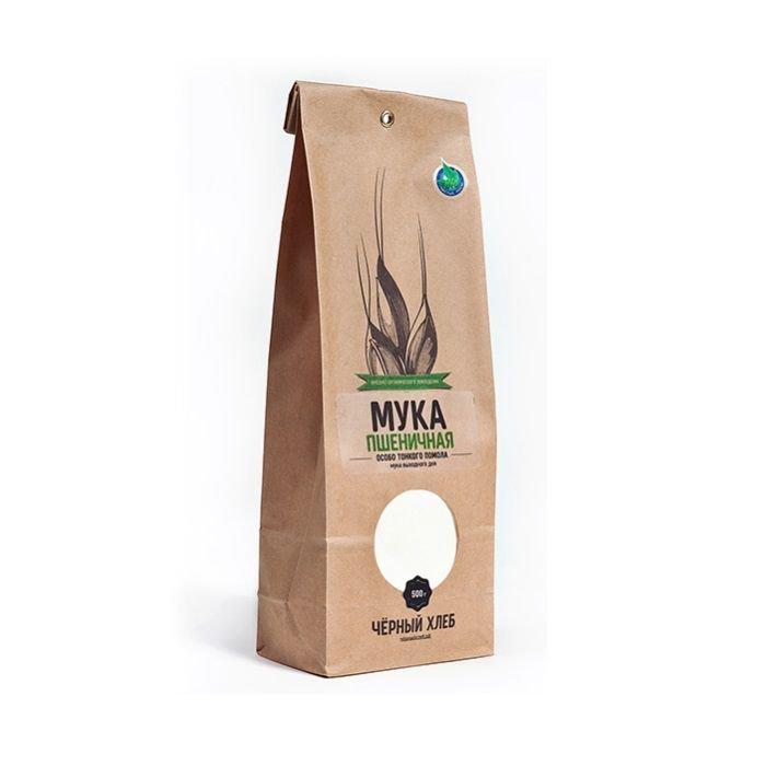 Мука пшеничная особо тонкого помола БИО, пакет (0,5 кг)