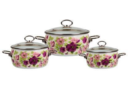 Набор эмалированной посуды №05, 3 предмета «Violeta»