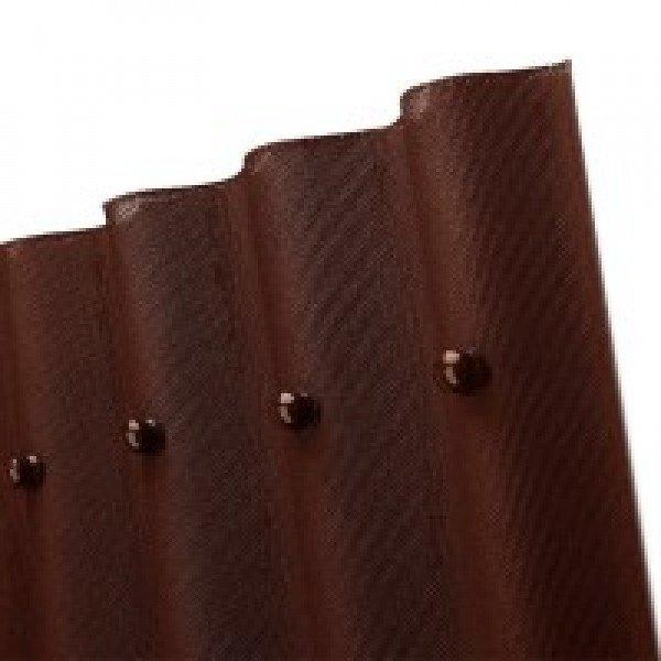 Лист кровельный волнистый Ондулин Smart коричневый 950х1950 мм