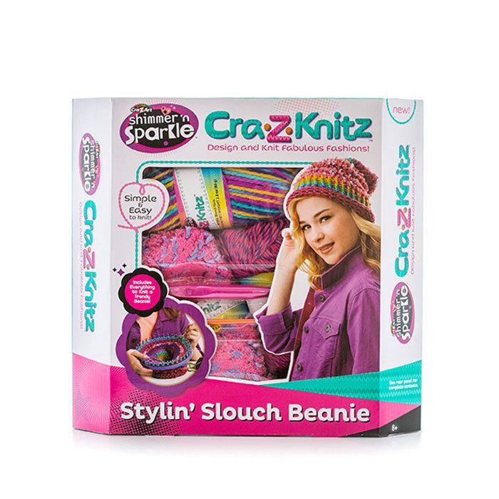 Cra-Z-Knitz Набор для вязания Стильная Шапка -колпак 17436