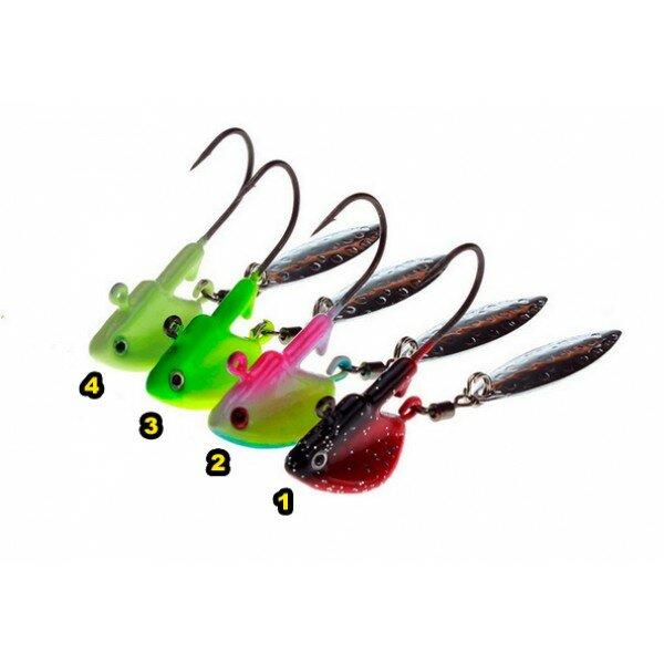 Джиг головки Lida Рыбка с лепестком (3.5г), Цвет джиг головки 4