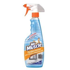 Средство для мытья стекол и поверхностей кафель сантехника пластик Мистер Мускул 500мл распылитель (10539)
