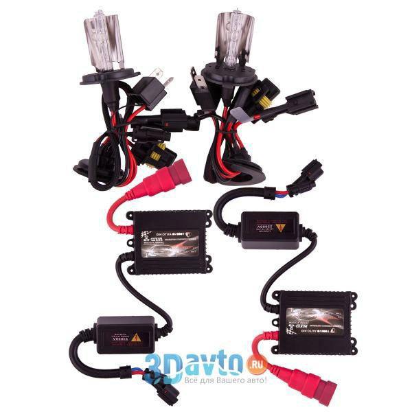 Автолампа ксенон H4-1 5000K YYHID TORINO комплект 2 шт + провод+блок розжига+крепеж для блоков