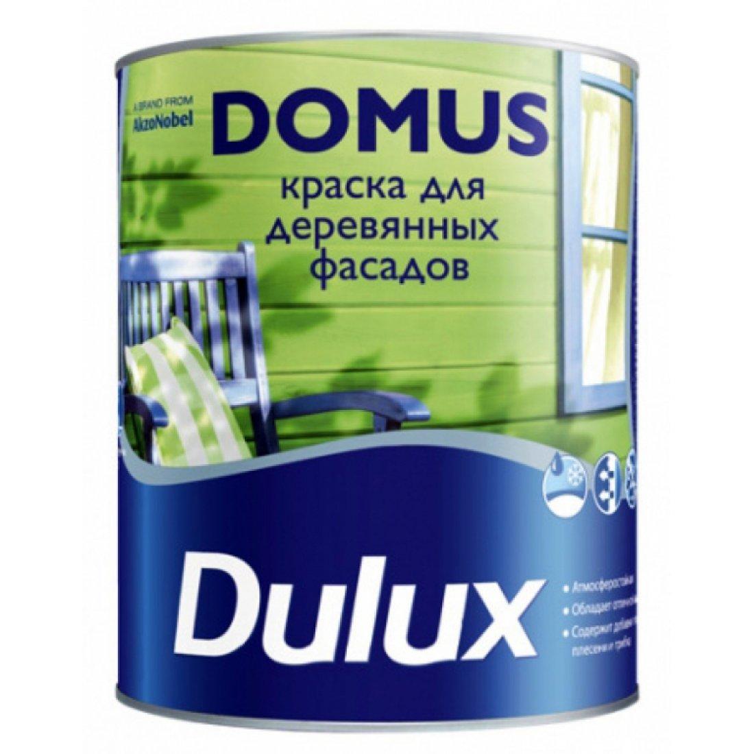 DULUX DOMUS краска для деревянных фасадов, алкидно-масляная, Баз BC, полуглянцевая, бесц, (9л)