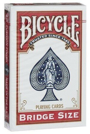 Игральные карты Bicycle Bridge Size (красные)